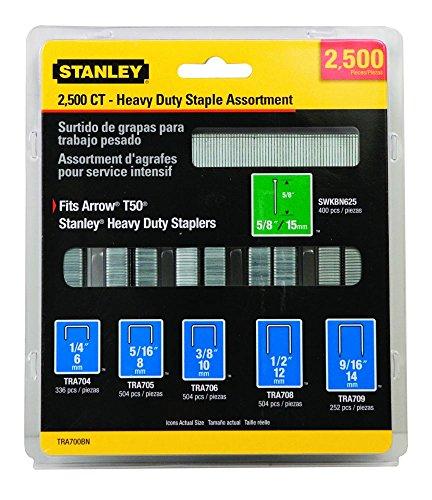 Heavy Duty Staple Assortment for 22-20046-Pack of 2,500
