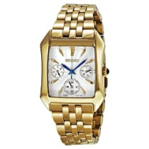 Seiko GMT Silver Dial Gold-Tone Stainless Steel Mens Watch SKY738
