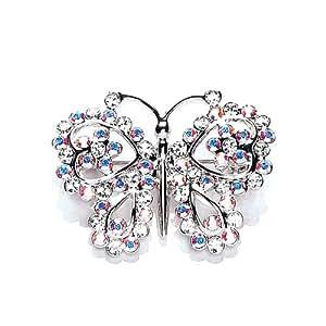 CHIC 4020/2 - Broche de mujer de rodio (bañado) con 66 cristales