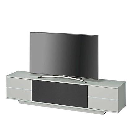 TV Lowboard in Schwarz Grau 200 cm Pharao24