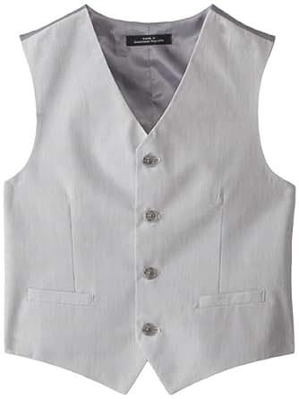 Calvin Klein Big Boys' Mini Stripe Vest, Medium Grey, Small