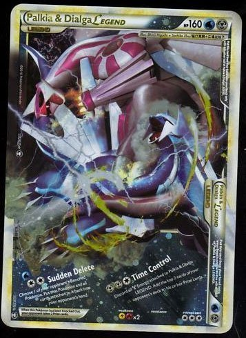 Dialga & Palkia Legend JUMBO OVERSIZED pokemon card ...