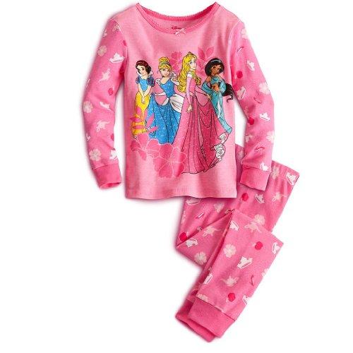 Girls Disney Princess Pink Pajama Set - Size 4 front-93131