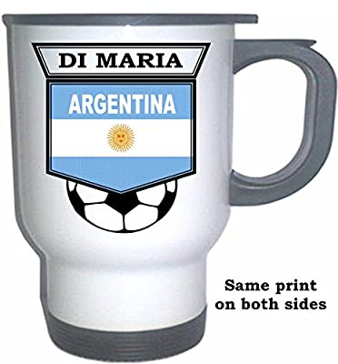 Angel Di Maria (Argentina) Soccer White Stainless Steel Mug