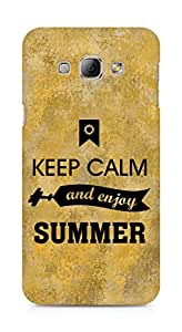 Amez Keey Calm and Enjoy Summer Back Cover For Samsung Galaxy A8