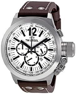 TW Steel CE 1007 - Reloj cronógrafo de caballero con correa de piel marrón