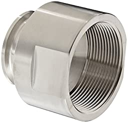 Dixon 22MP-G150200 Stainless Steel 304 Sanitary Fitting, Clamp Adapter, 1-1/2\