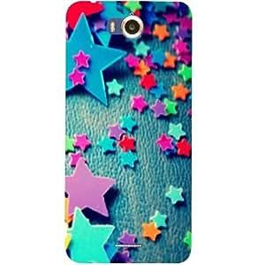 Casotec Colorful Stars Design Hard Back Case Cover for Infocus M530