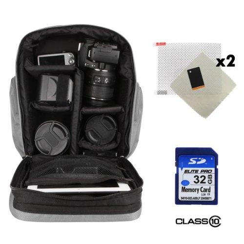 Sparta Adventure Backpack Bag For Olympus Pen E-P5 / Pen E-Pl5 / Pen E-Pm2 Digital Camera + 32Gb Class 10 Sd Card + Screen Protector (X2)