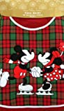 Disney Parks Mickey Minnie Mouse Skating Plaid Christmas Holiday Tree Skirt NEW