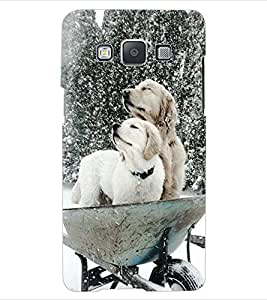 ColourCraft Cute Dogs Design Back Case Cover for SAMSUNG GALAXY E5