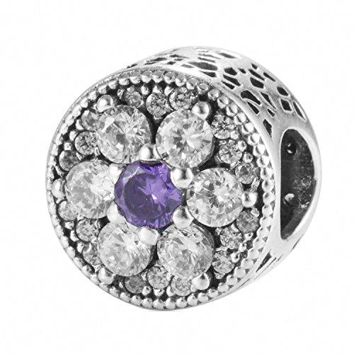 TAOTAOHAS genuino sterling 925 argento charms beads perline [Non Ti Scordar Di Mé, Tanzanite] per bracciali europeo