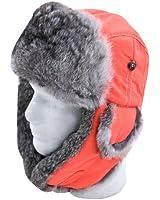 Mad Bomber Supplex Hat with Grey Fur