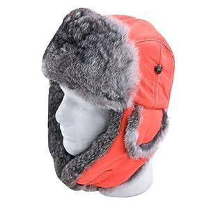Mad Bomber Supplex Hat with Grey Fur,Small,Blaze with Grey Fur