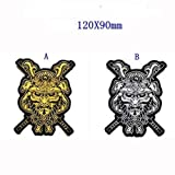 2pcs Bushido Samurai Japanese Warrior Military Patch Fabric Embroidered Badges Patch Tactical Stickers with Hook & Loop (2pcs) (Color: 2pcs)