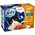 Felix Sensations Ocean Selection in Jelly 12 x 100 g (Pack of 4, Total 48 Pouches)