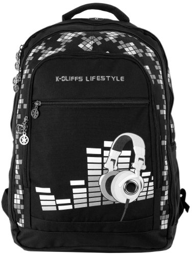 15.4 Inch K-Cliffs Dj Galaxy Laptop Notebook Computer Backpack School Bag W/Headphone Port