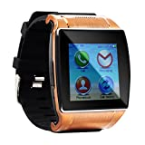 """Tera UPRO2 Bluetooth 1.54"""" LCD Touch Screen Intelligent Watch Bracelet Wristband Pedometer Color Gold with Steps Tracking Phone Anti-lost Call Message Sync FM Support SIM and SD Card"""