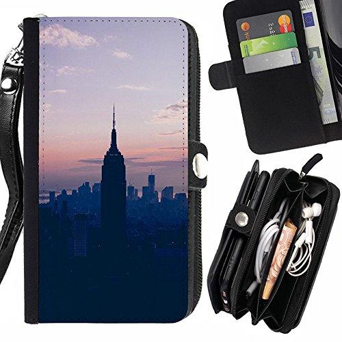 generic-pelle-flip-custodia-case-protezione-cover-per-lg-ray-state-sunset-blue-nyc-new-york