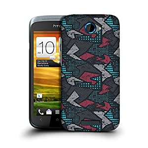 MobileGlaze Designs Early Graffiti Bluye Dots Hard Back Case Cover for HTC ONE S
