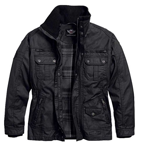 Harley-Davidson Men's Out-Of-Reach Rugged Waxed Casual Jacket 97559-16VM (XL) (Jacket Waxed Cotton compare prices)