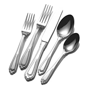 Wallace Montre 53-Piece Stainless Steel Flatware Set, Service for 8