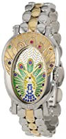 Brillier Women's 18-02 Royal Plume Peacock Inspired Swiss Genuine Gemstones Watch from Brillier
