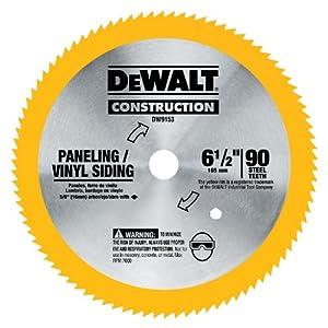 Dewalt Dw9153 6 1 2 Inch 90 Tooth Paneling And Vinyl