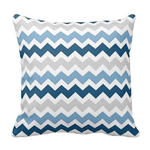 Blue Gray Decorative Pillow Case 18x18 Home Sofa Bed Car Cushion Cover (Light Blue Pillows Decorative compare prices)