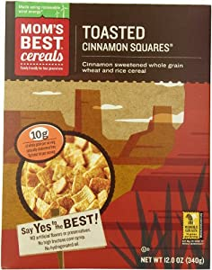 Mom Brands Cereals, Toasted Cinnamon Squares, 12.06 Pound (Pack of 12)