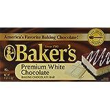 Baker's, Premium White Chocolate Baking Bar, 4oz Bar (Pack of 4)
