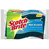 Scotch-Brite  Non-Scratch Scrub Sponge, 3-Count (Pack of 8)