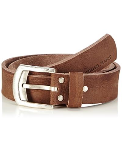 Cross Jeans Cinturón Piel Marrón Oscuro