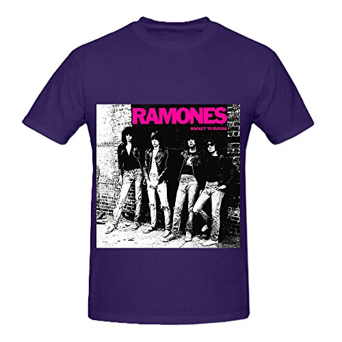 The Ramones Rocket To Russia Funk Mens O Neck Graphic T Shirt Purple