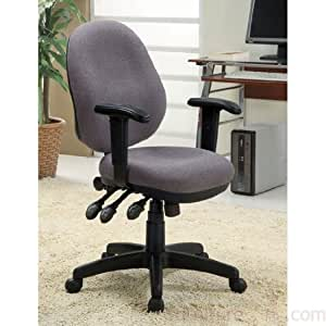 Office Chair In Grey Fabric By Coaster Furniture Adjustable Home Desk Chairs