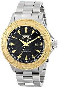 Invicta Men's 12556SYB Pro Diver Analog Display Japanese Quartz Silver Watch