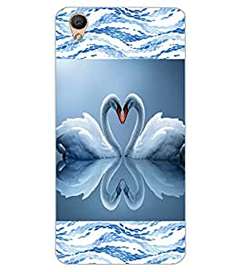 ColourCraft Love Birds Design Back Case Cover for OPPO R9