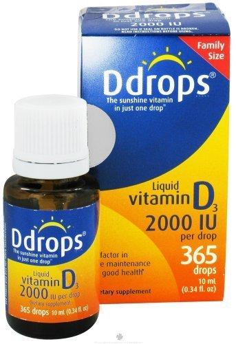 Ddrops - Liquid Vitamin D3 365 Drops 2000 IU - 0.34 oz. ( Multi-Pack) by Ddrops (Ddrops 2000 compare prices)