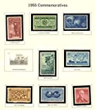 USA 8 Commemorative Stamps, MNH, Issued 1955: Andrew Mellon, Rotary Intl, Atoms For Peace, more
