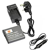 DSTE NP-BG1 Rechargeable Li-ion Battery + Charger DC02U for Sony NP-BG1, NP-FG1 and Sony Cyber-shot DSC-H3, DSC-H7, DSC-H9, DSC-H10, DSC-H20, DSC-H50, DSC-H55 Digital Camera etc