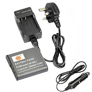 DSTE NP-BG1 Batterie Li-ion Rechargeable DC02U chargeur pour Sony NP-FG1 NP-BG1, Sony Cyber-shot DSC-H3 DSC-H7 DSC-H9 DSC-H10 DSC-H20 DSC-H50 DSC-H55 appareil photo numérique, etc.