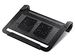 Cooler Master NotePal U2 PLUS - Laptop Cooling Pad with 2 Configurable High Performance Fans (Black)