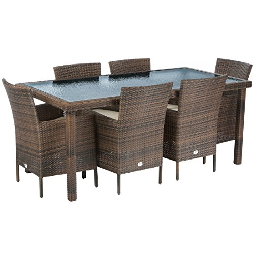 Ultranatura-Poly-Rattan-Gartenmbelset-Palma-Serie-7-teilig-Tisch-6-Sthle-inklusiv-Auflagen
