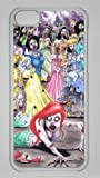 Disney Princess Zombies Custom PC Transparent Case for iPhone 5C