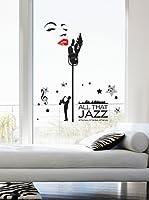 Ambiance Live Vinilo Decorativo Sticker Jazz singer Multicolor