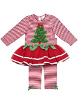 Red Striped Tutu Set With Ruched Tree 24 months