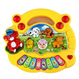 Bluesky Lively 8 Keys Plastic Piano Toy Sweet Musical Toy for Kids (Yellow)