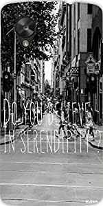 Snoogg Do You Believe In Serendipity Case Cover For Google Nexus 5