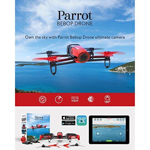 Parrot Bebop Drone 1400万画素 魚眼レンズ カメラ付 クワッドコプター (レッド)