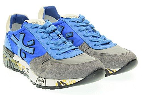 PREMIATA uomo sneakers basse MICK 1472E 44 Celeste-Grigio